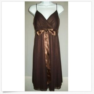 Onyx Nite Dress Brown Shimmer Cocktail Evening